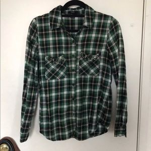 F21 Flannel with Studs